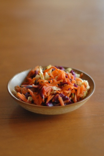 Asian-Style Carrot and Cabbage Slaw
