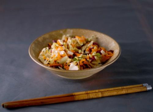 Asian style slaw with marinated tofu (2)