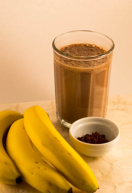 smoothie with cocoa and banana