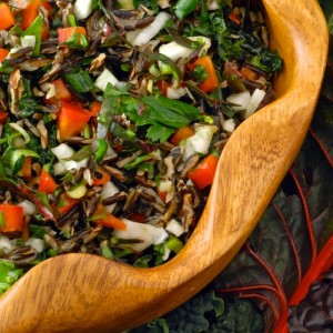 Chard, Kale, and Fennel Salad with Wild Rice (Emerald City Salad) (1)