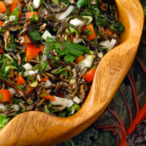 Chard, Kale and Fennel Salad with Wild Rice (Emerald City Salad)