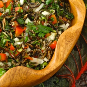 Chard, Kale, and Fennel Salad with Wild Rice (Emerald City Salad)