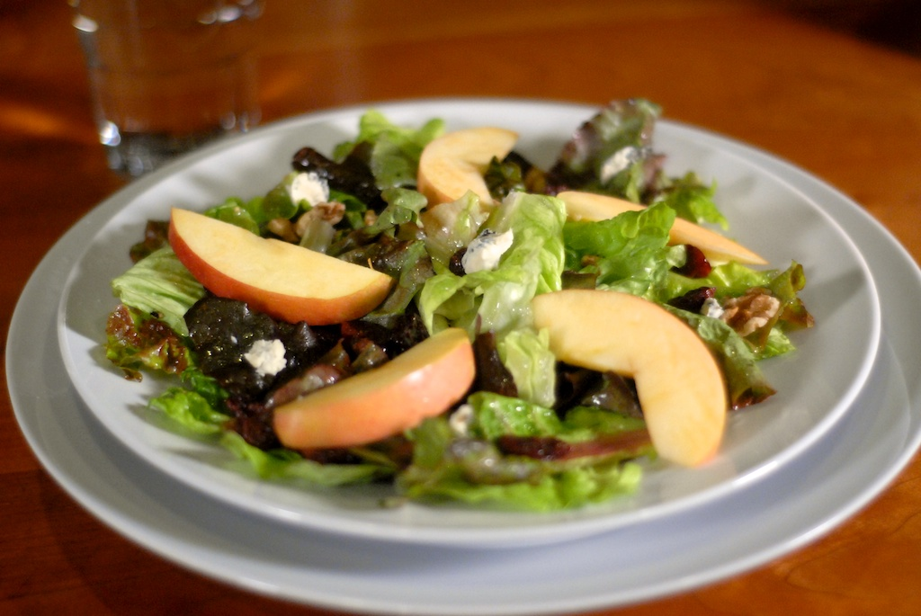 Fall Salad Add-Ins: Apples, Walnuts, Dried Cherries, Blue Cheese