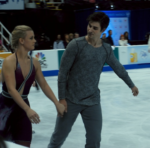 Madison Hubbell and Zachary Donahue in warmup (1)