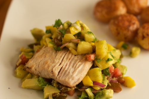 mahi-mahi with tropical salsa