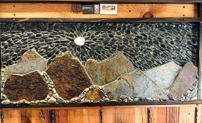 Pebble mosaic at Winthrop Physical Therapy