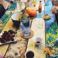 the table at our first Seattle Food and Friends gathering