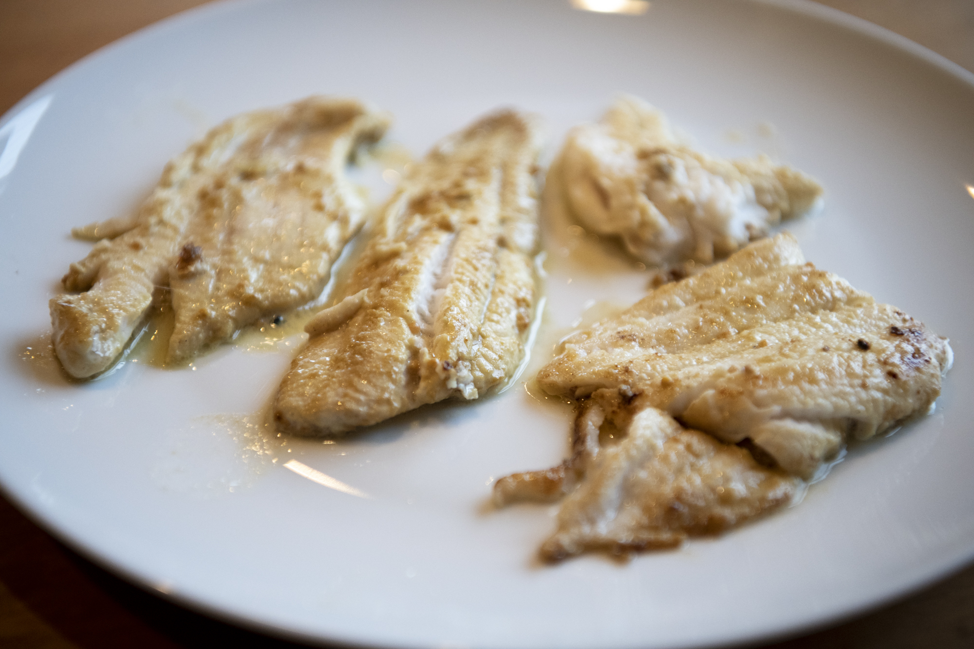 Pan-fried Dover (Pacific) sole