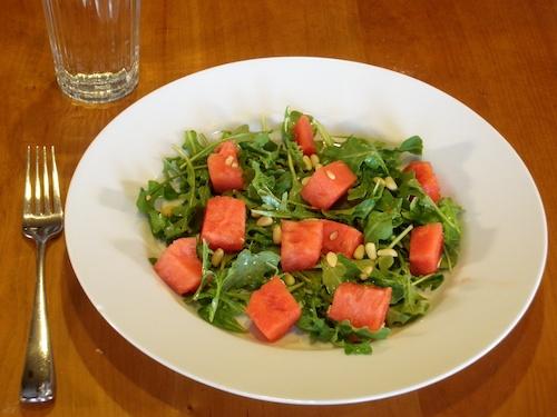 arugula watermelon salad