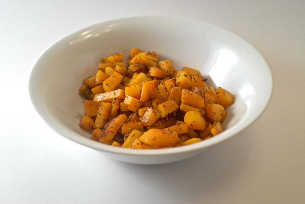 Cubed Butternut Squash with Thyme