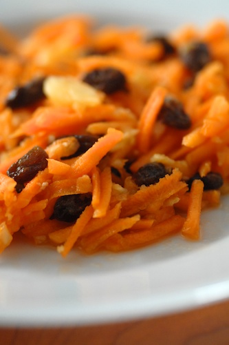Gingered Carrot Raisin and Fresh Pineapple Salad