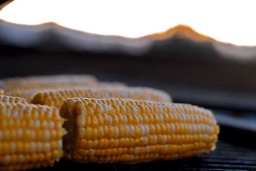 Grilled Corn in the Big Green Egg