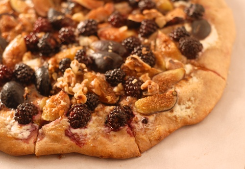 Blackberry Fig Mascarpone Pizza