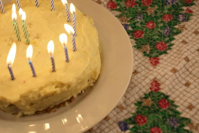 last Brent's eggnog birthday cake