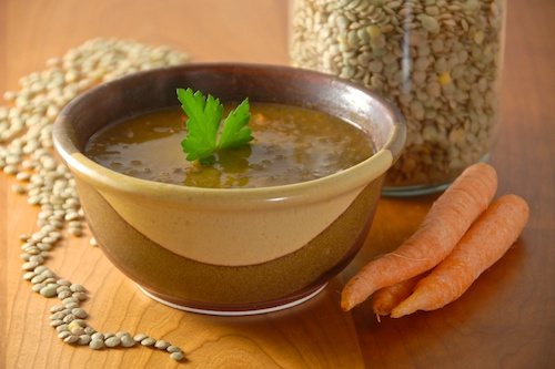 Vegetarian Green Lentil Soup