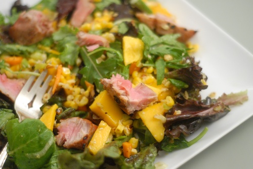 Ahi Tuna, Mango and Roasted Corn Salad