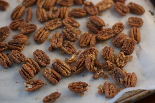 Maple Candied Pecans, the Oven Method