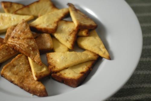 marinated baked ginger garlic tofu