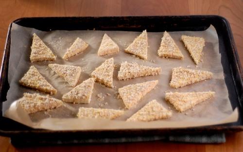 panko breaded tofu triangles