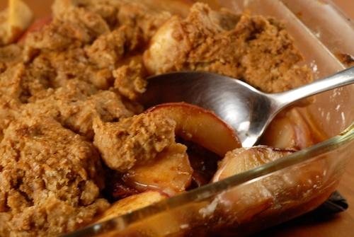 Gluten-Free Vegan Peach Cobbler