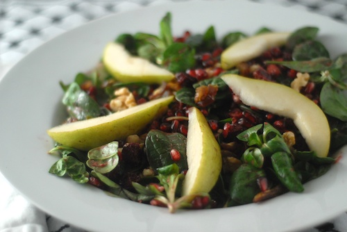 Winter Jewel Salad with Pomegranate Vinaigrette