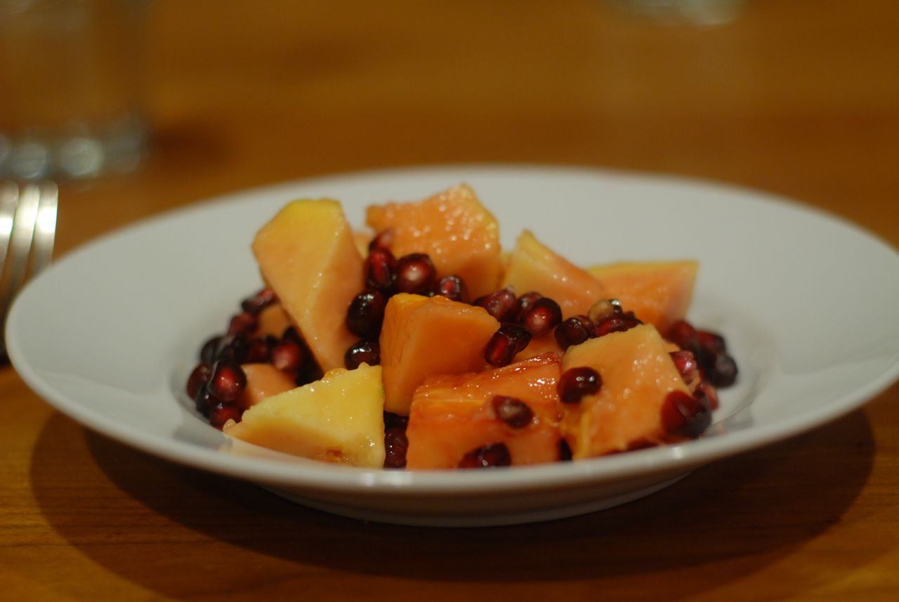 Papaya Pomegranate Salad