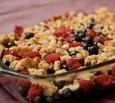 raspberry blueberry crumble