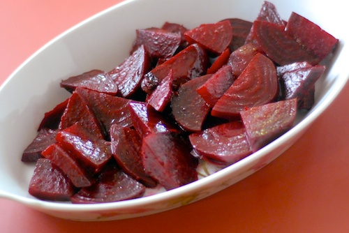 Roasted Beets with Balsamic Vinegar and Olive Oil
