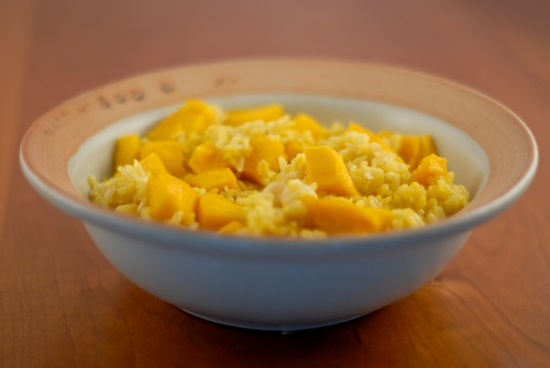 Saffron Rice with Mango and Macadamia
