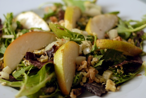 Fennel, Blue Cheese, and Pear Salad