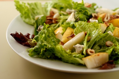 Pear, Hazelnut and Goat Cheese Salad