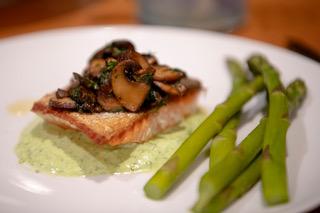 Pan-seared Salmon with Simple Greek Yogurt Green Goddess Sauce