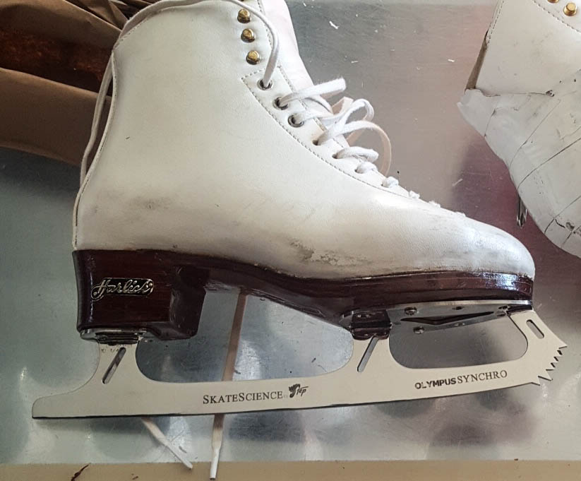 skates with synchro blades