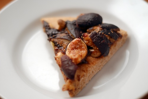 slice of fig almond cake