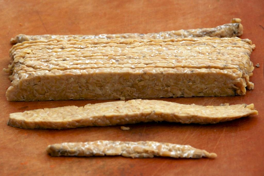 tempeh cut into strips