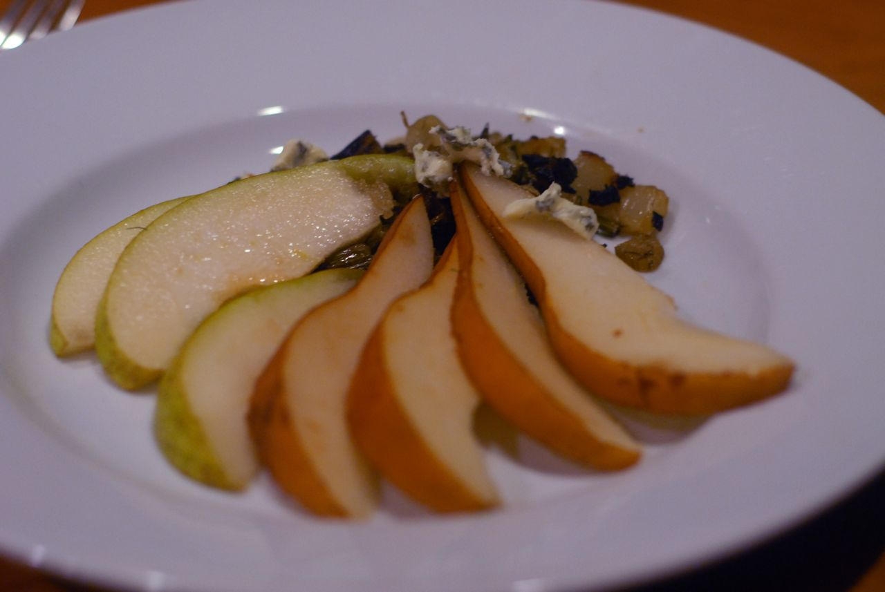 third try fennel with blue cheese and pear