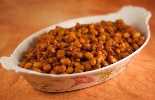Smokey Baked Yellow Eye Beans with Bourbon