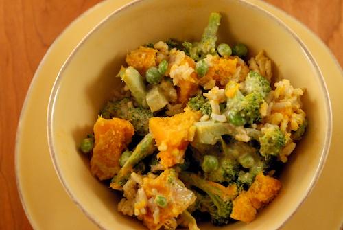 Veggie Salad Bowl with Almond-Cilantro Dressing