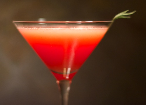 watermelon tarragon cocktail or mocktail