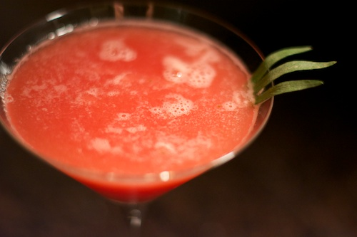 watermelon tarragon drink