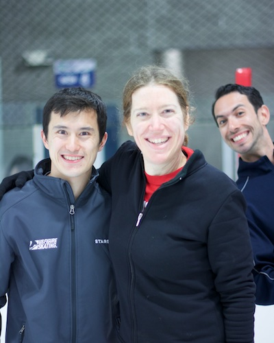 with Patrick Chan and Ben Agosto
